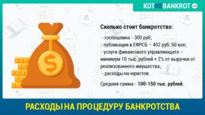 Расходы на процедуру банкротства