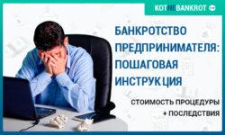 банкротство предпринимателя пошаговая инструкция