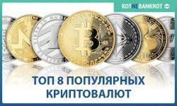 самые популярные криптовалюты на сегодняшний день