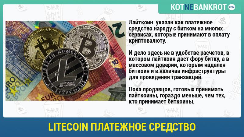 Litecoin платежное средство