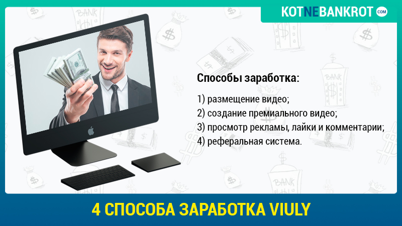 4 способа заработка Viuly